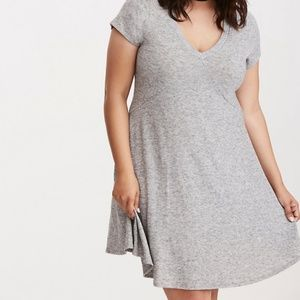 Torrid Gray HACCI KNIT TRAPEZE DRESS Knit Size 4X